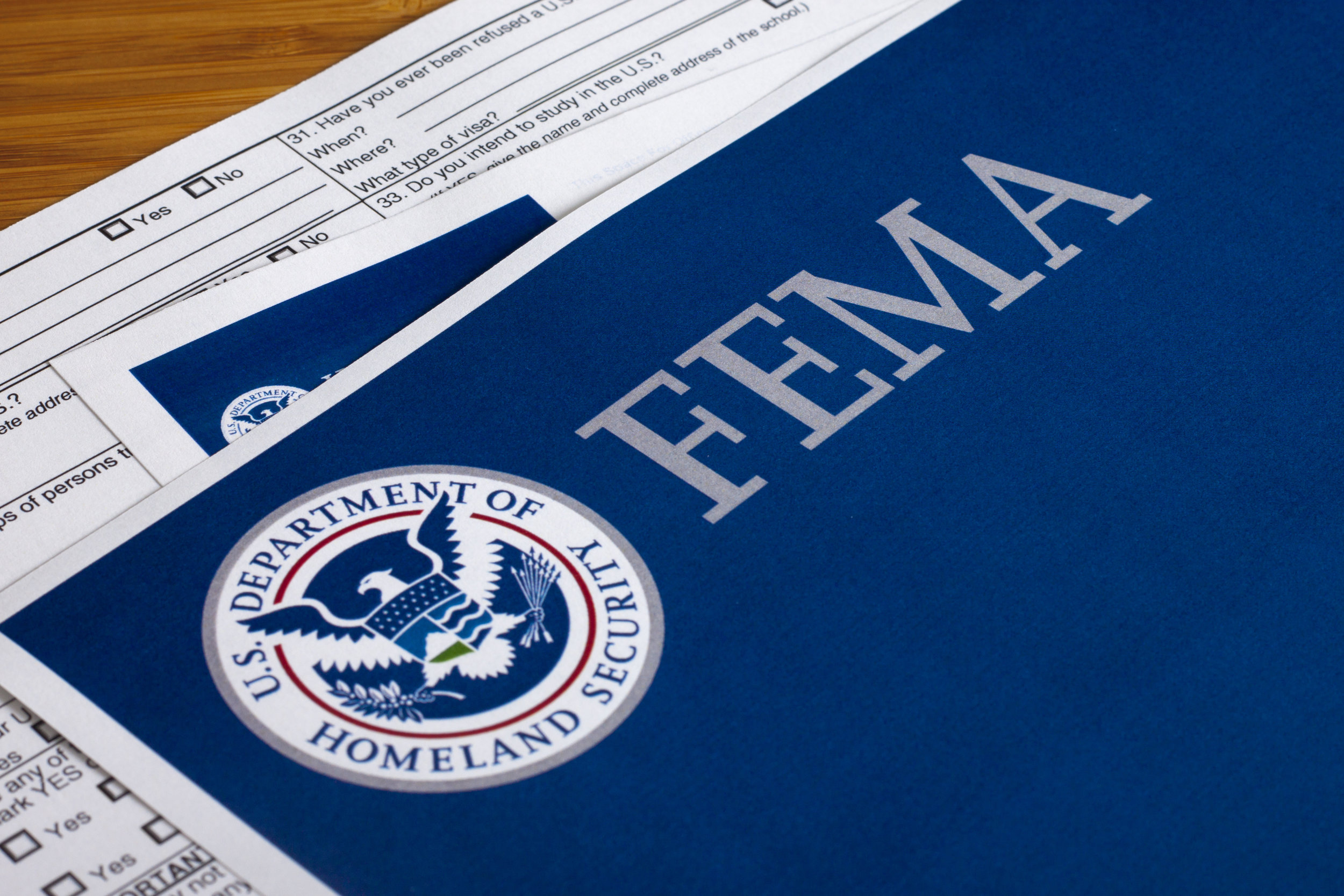FEMA US Homeland Security Form