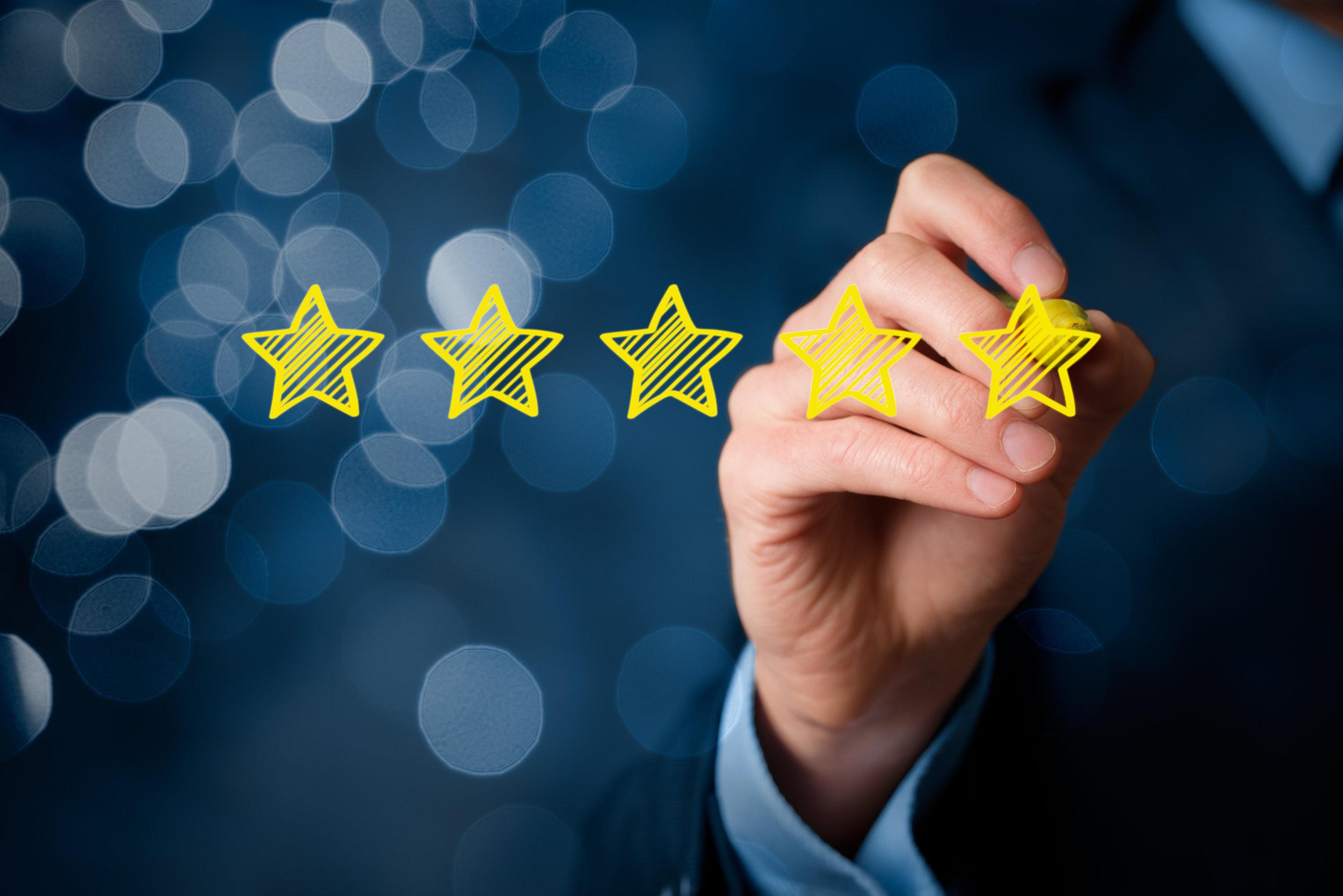 Review increase rating