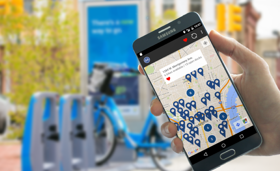 Philly Bike Share Map (not sponsored by RideIndego)