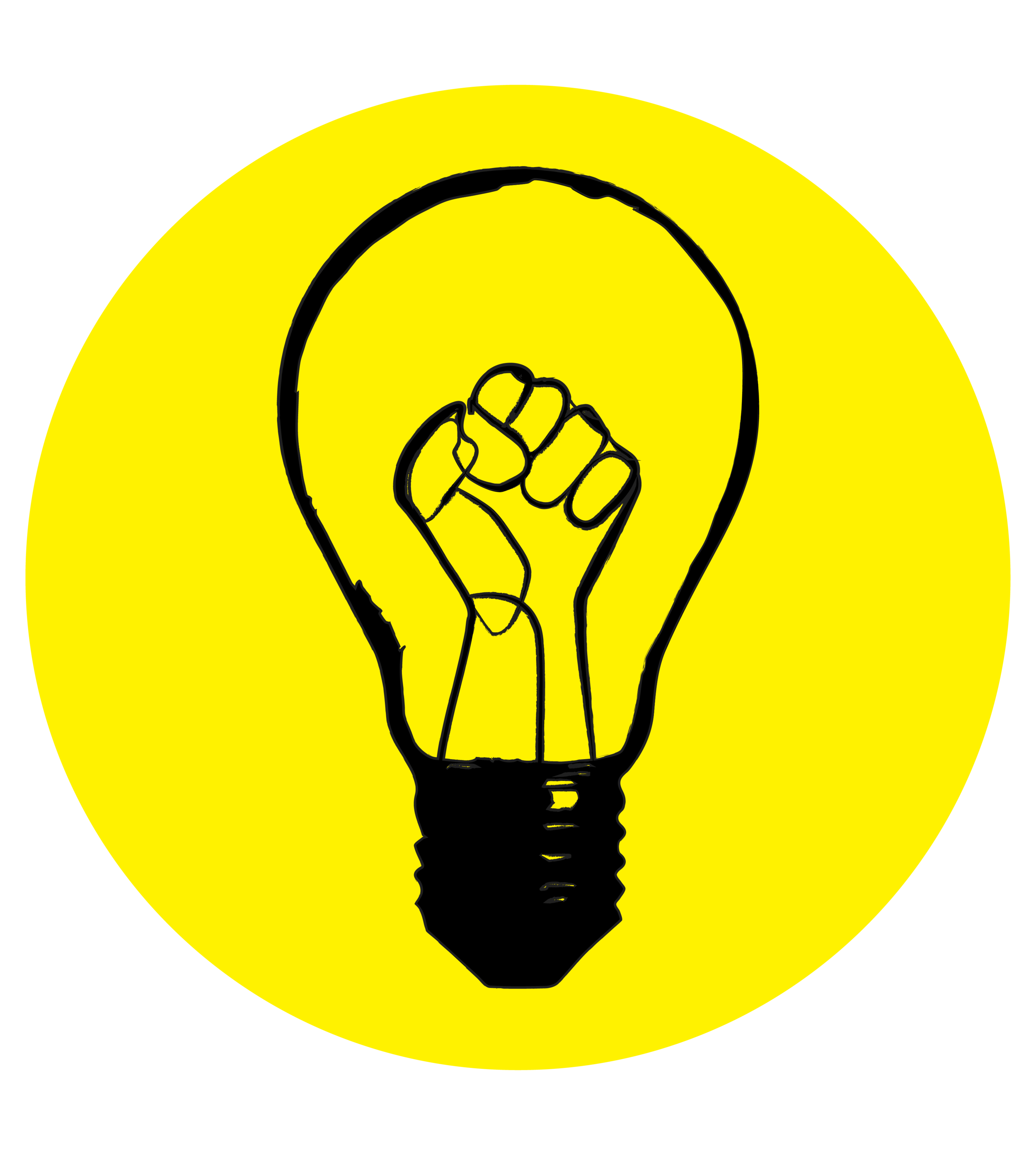 Lightbulbs Abolition Science black yellow.png