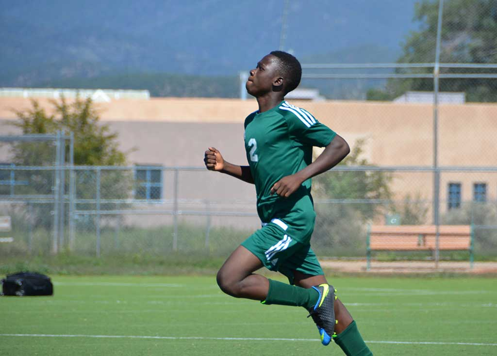 Adam Abusang - from Ghana, playing soccer for Desert Academy