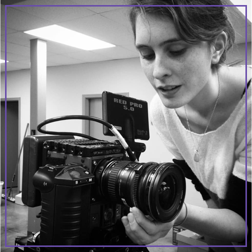Katie Hinshaw - Director/CinematographerKatie can coach women who are interested in the technical side of filmmaking, working with real film (super 8mm, 16mm, and 35mm), camera assisting, cinematography, and how to navigate the freelance world. She also writes screenplays and makes art films.
