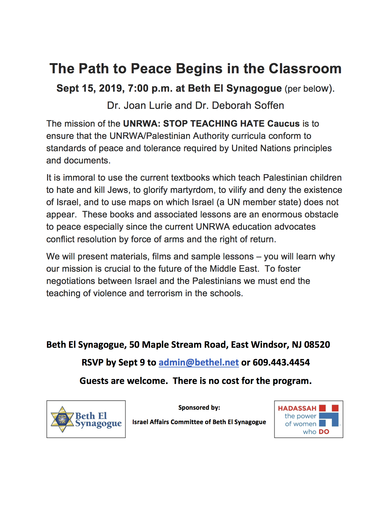 UNRWA stop teaching hate  Sept 15 2019pathtopeace copy.png