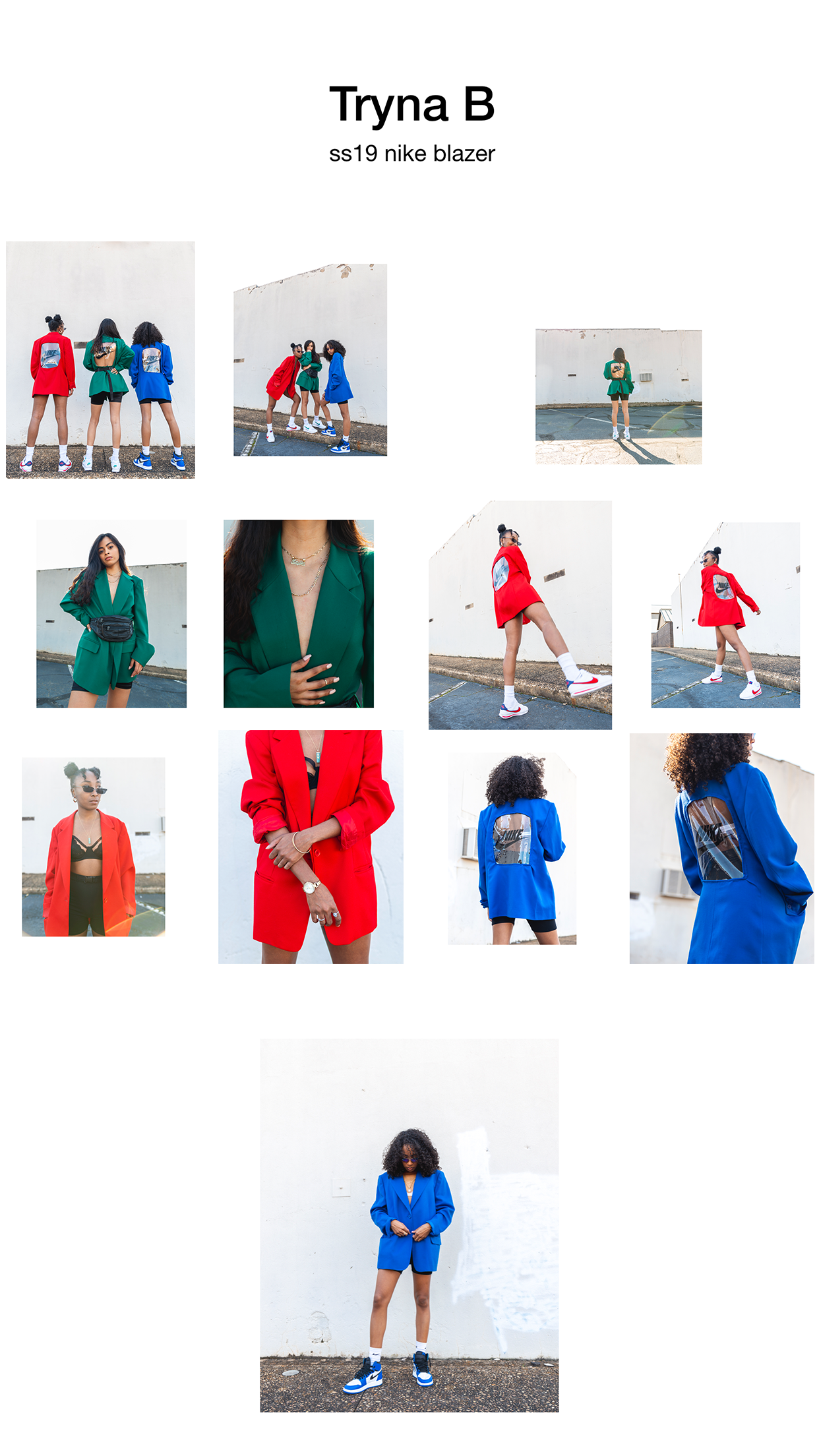 Look book created for Tryna B ss19 Drop - This look book was originally created in a slideshow style presentation so the viewer could see each and every piece of the collection and how it could be styled.