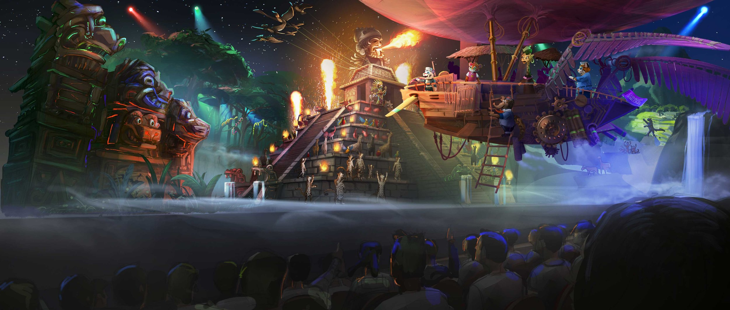 """Mr. Su's Tigers,"" Animatronics Show, Chimelong Theme Parks"