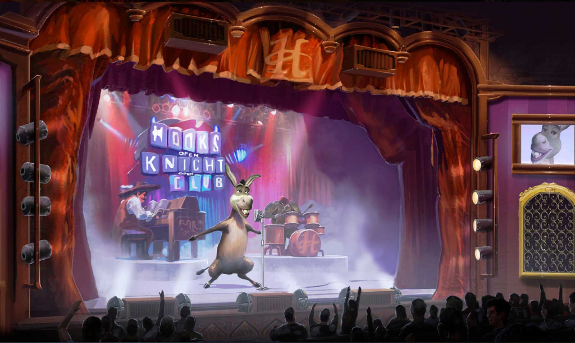 """""""Donkey Live!,"""" Geppetto Experience, Universal Studios Singapore"""