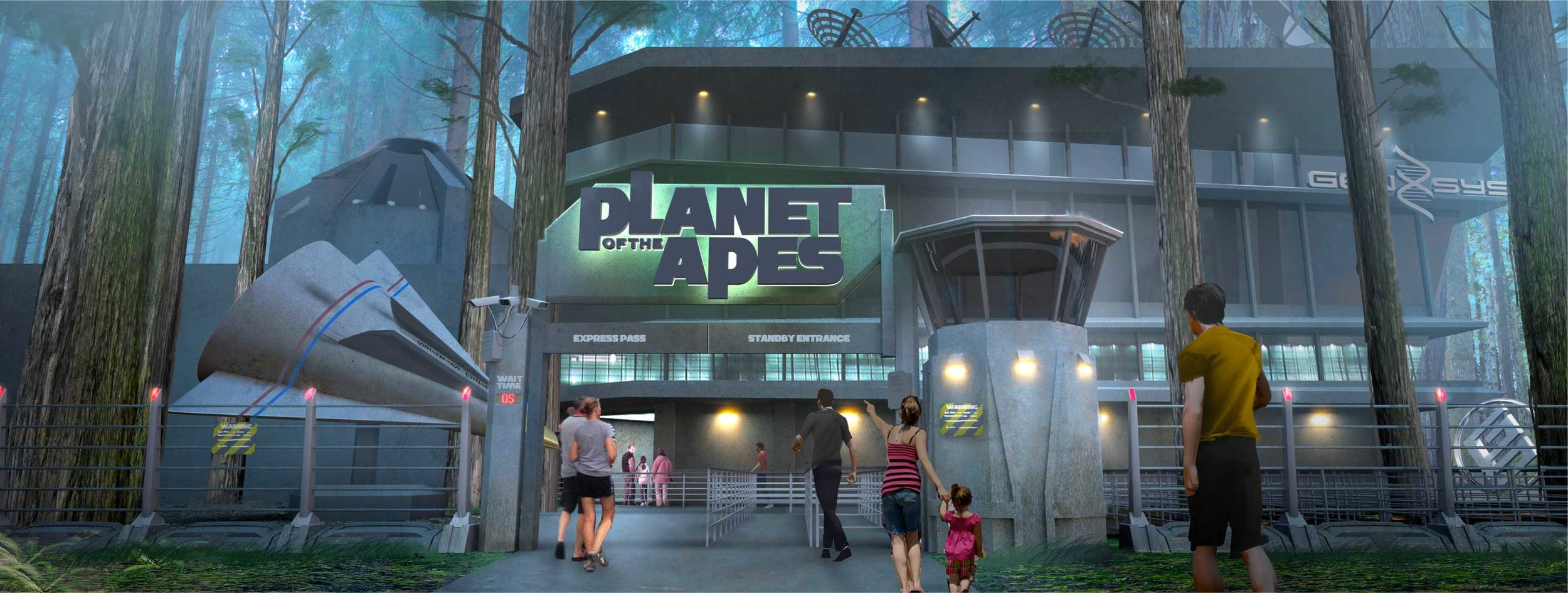 """""""Planet Of The Apes,"""" Motion Base Dark Ride, 20th Century Fox World, Malaysia"""