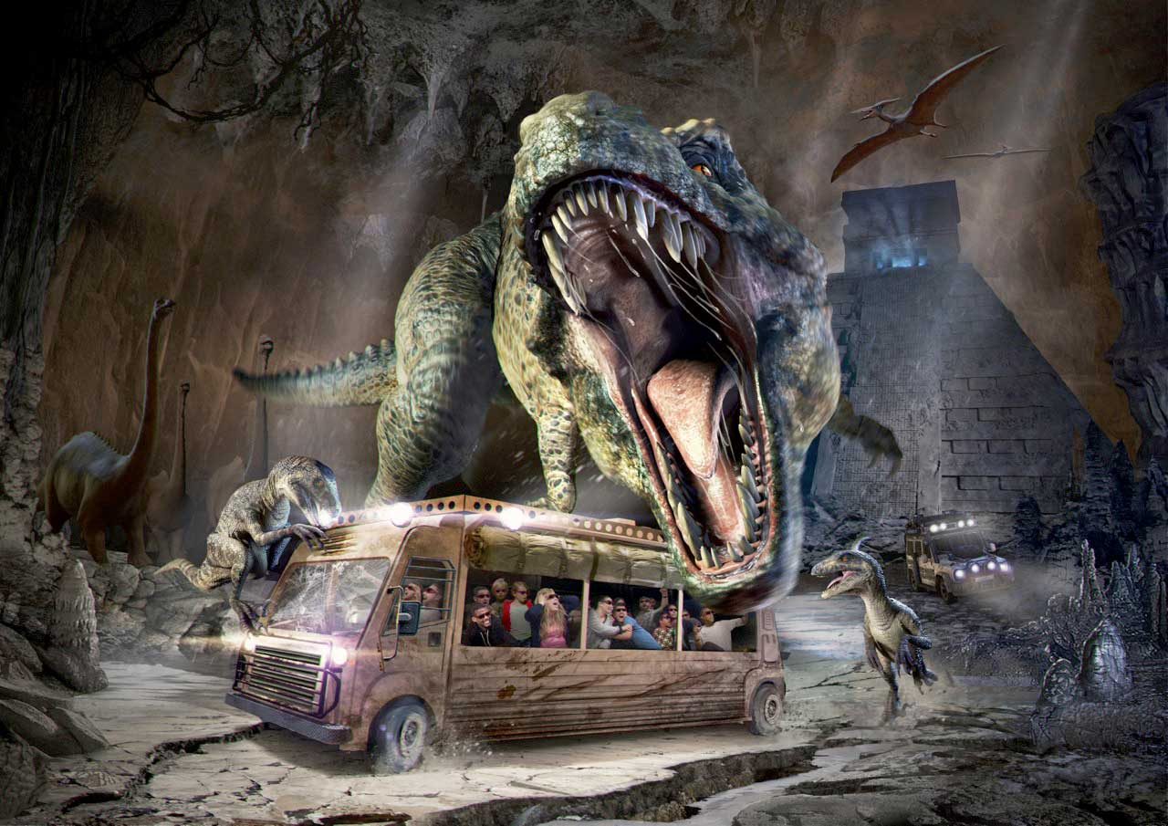 Immersion Tunnels - These attractions wrap guests 180 degrees in a seamless 3D stereoscopic projected display as they ride in tram-like vehicles. The result is a stunningly immersive and truly unforgettable experience.