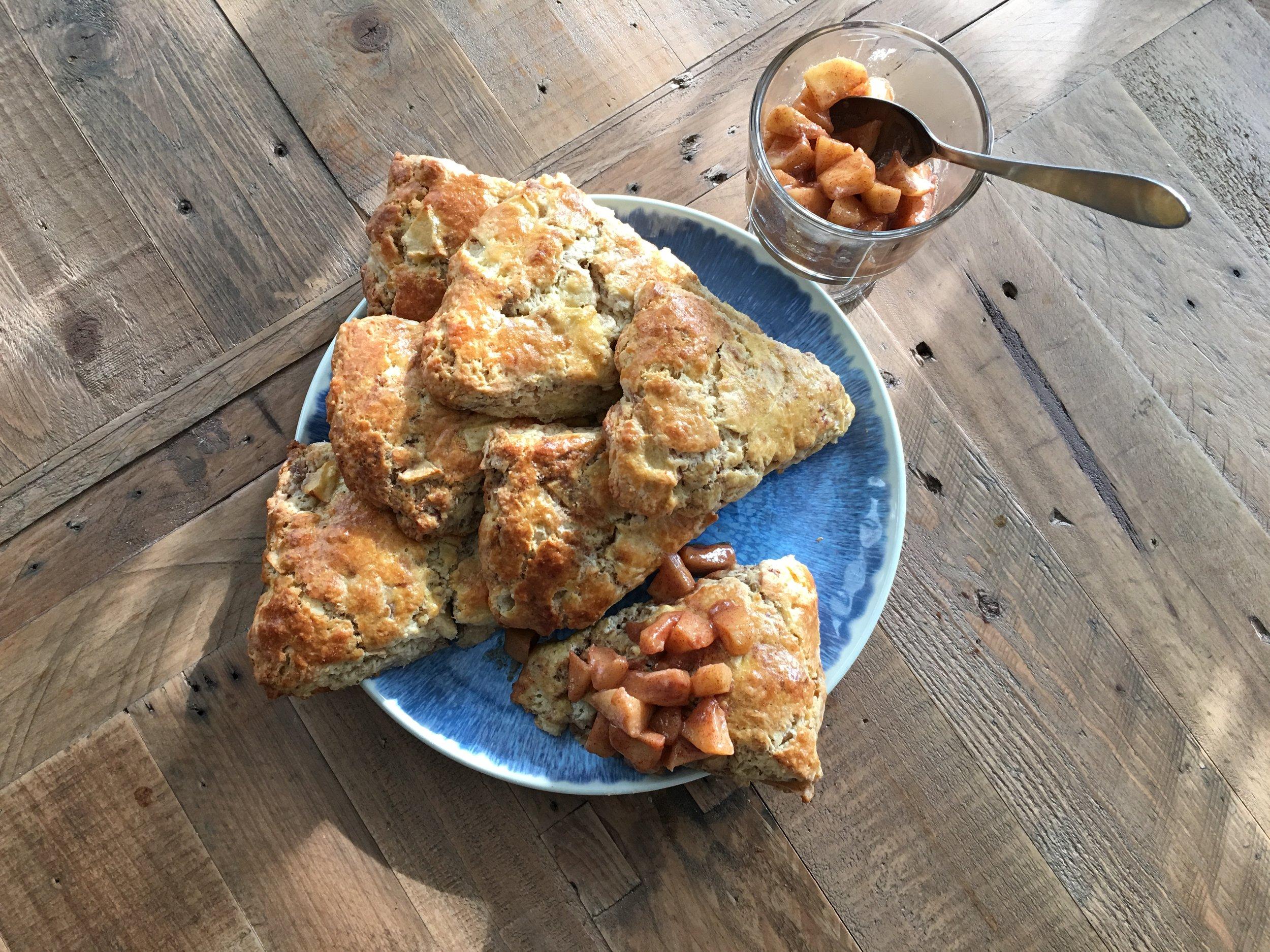 the Apple pie scone -