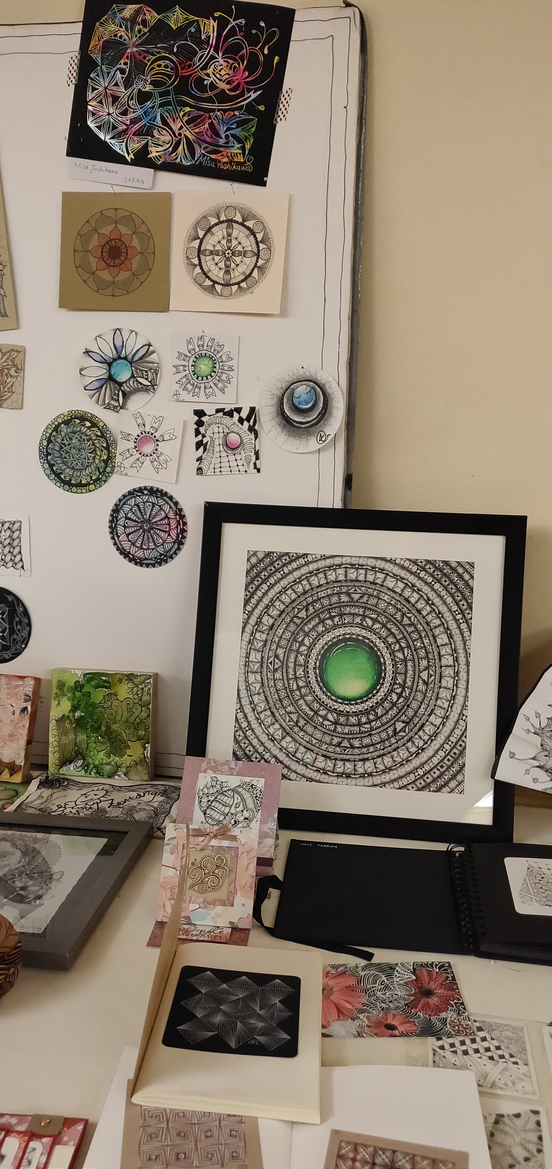 My Sold Artwork, Green ZenGem on the Display Section, at the Seminar