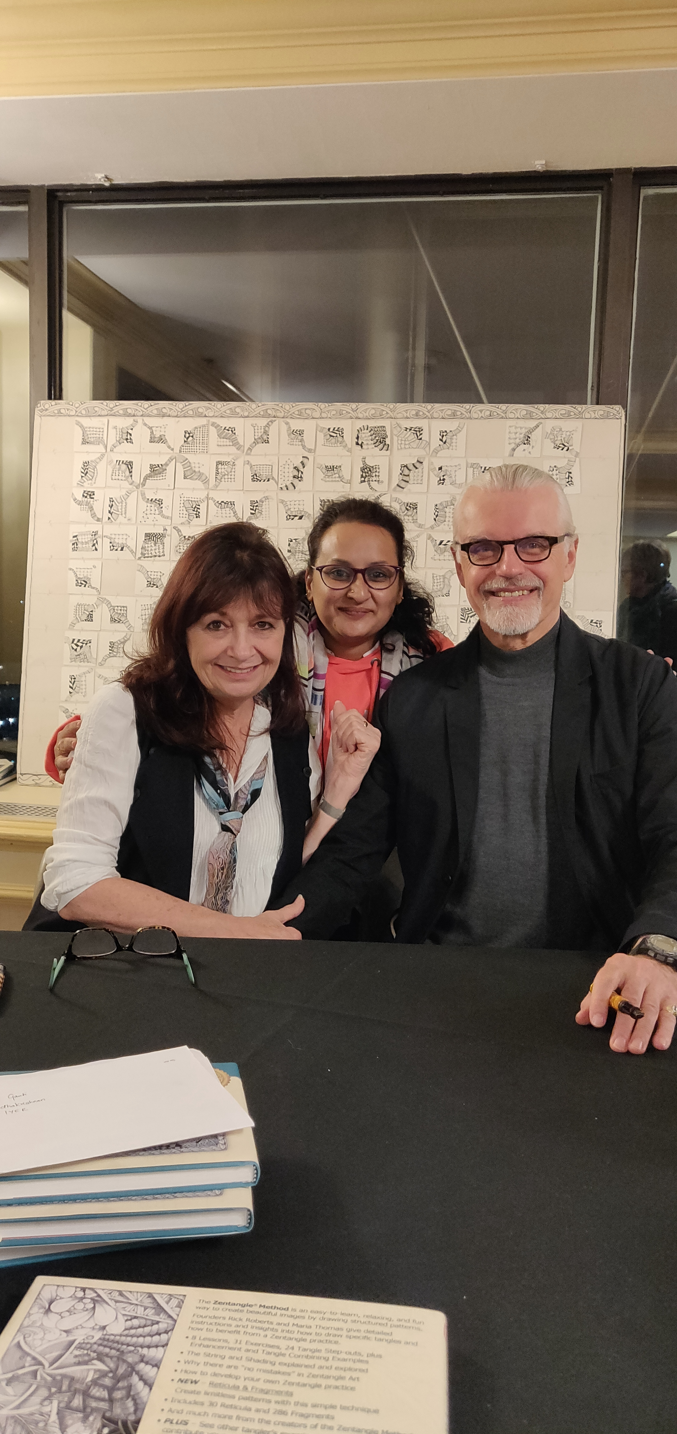 With the Zentangle Founders and my teachers Rick and Maria.