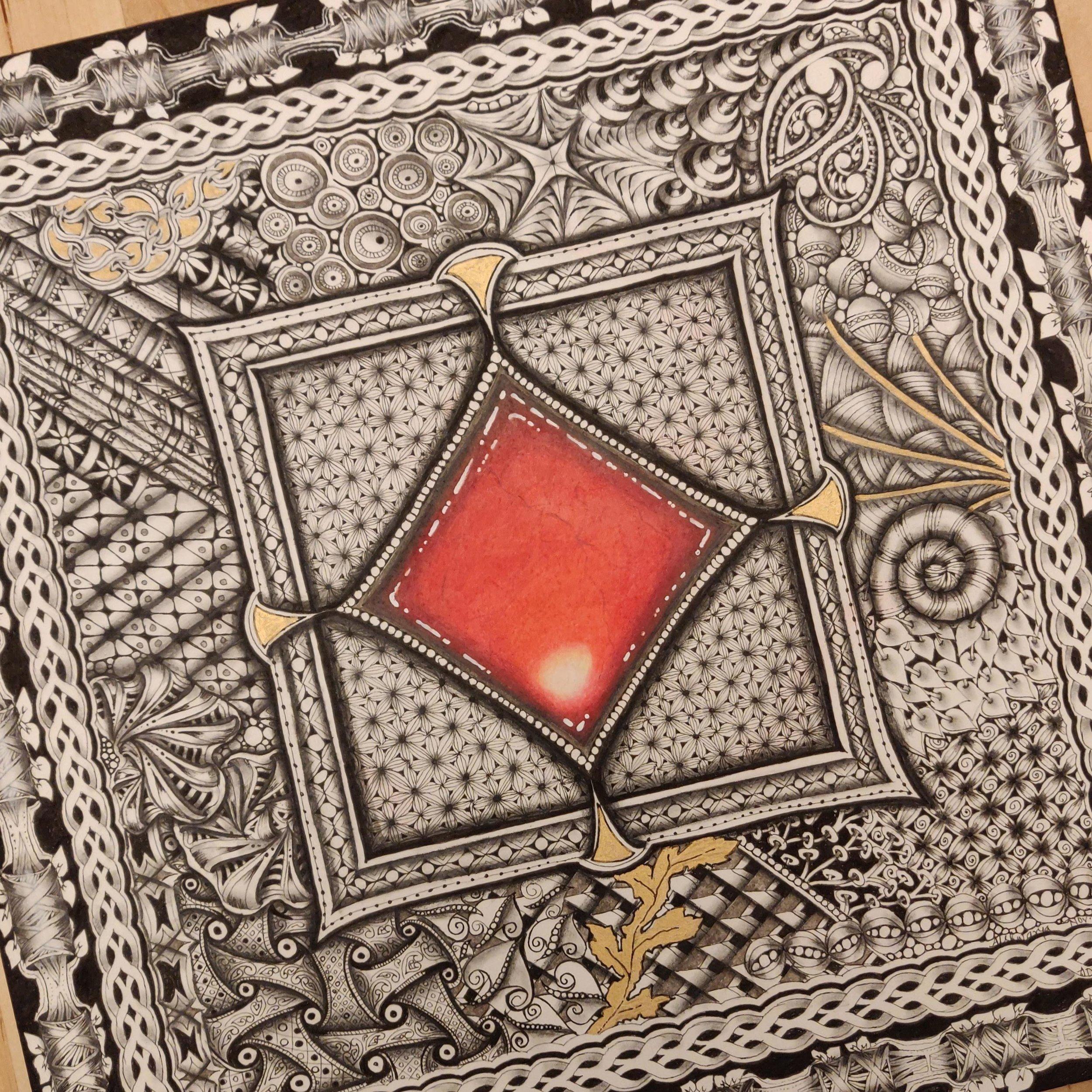 RedZenGem-12inches-Arches-SoldArtwork