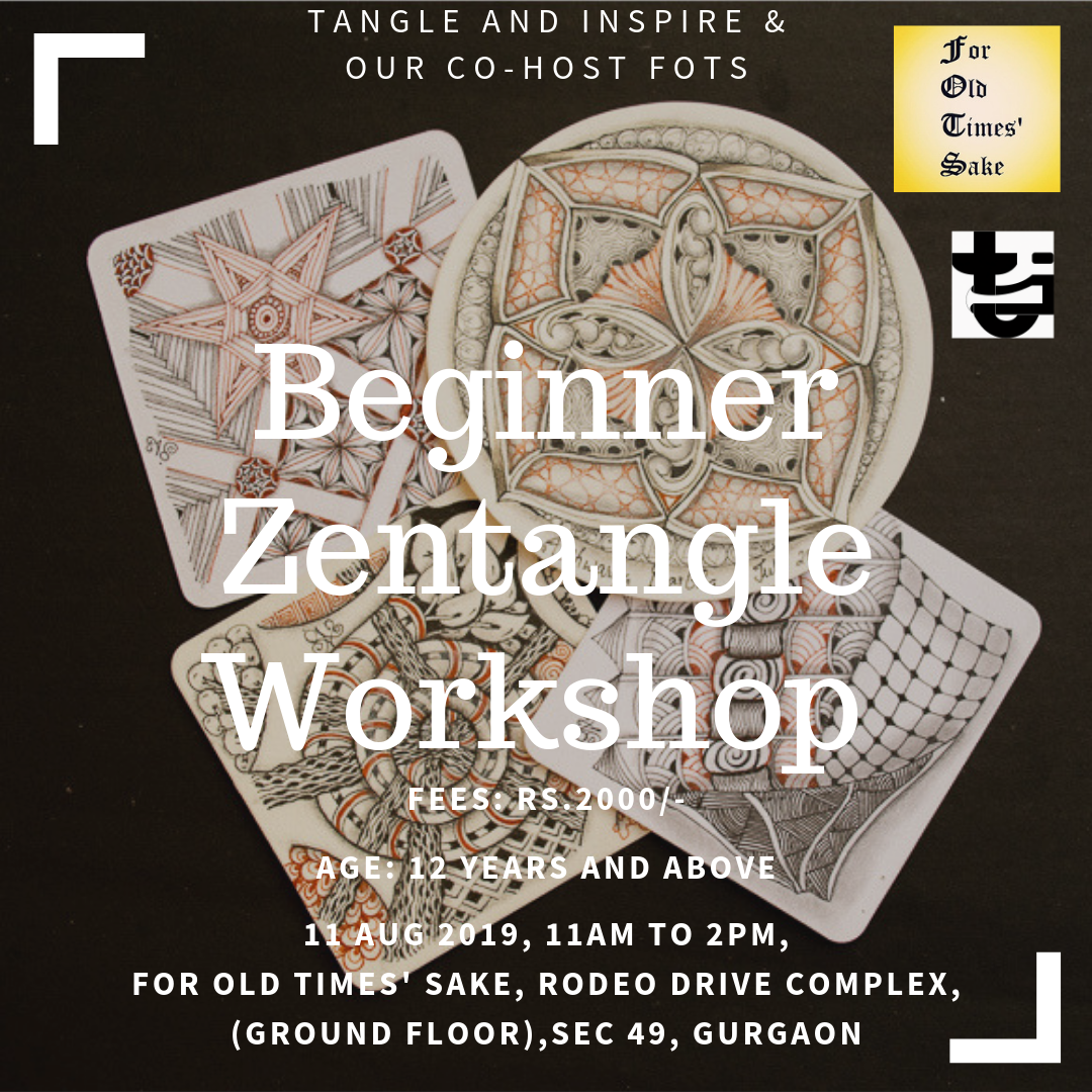 Beginner Zentangle Workshop - Gurgaon