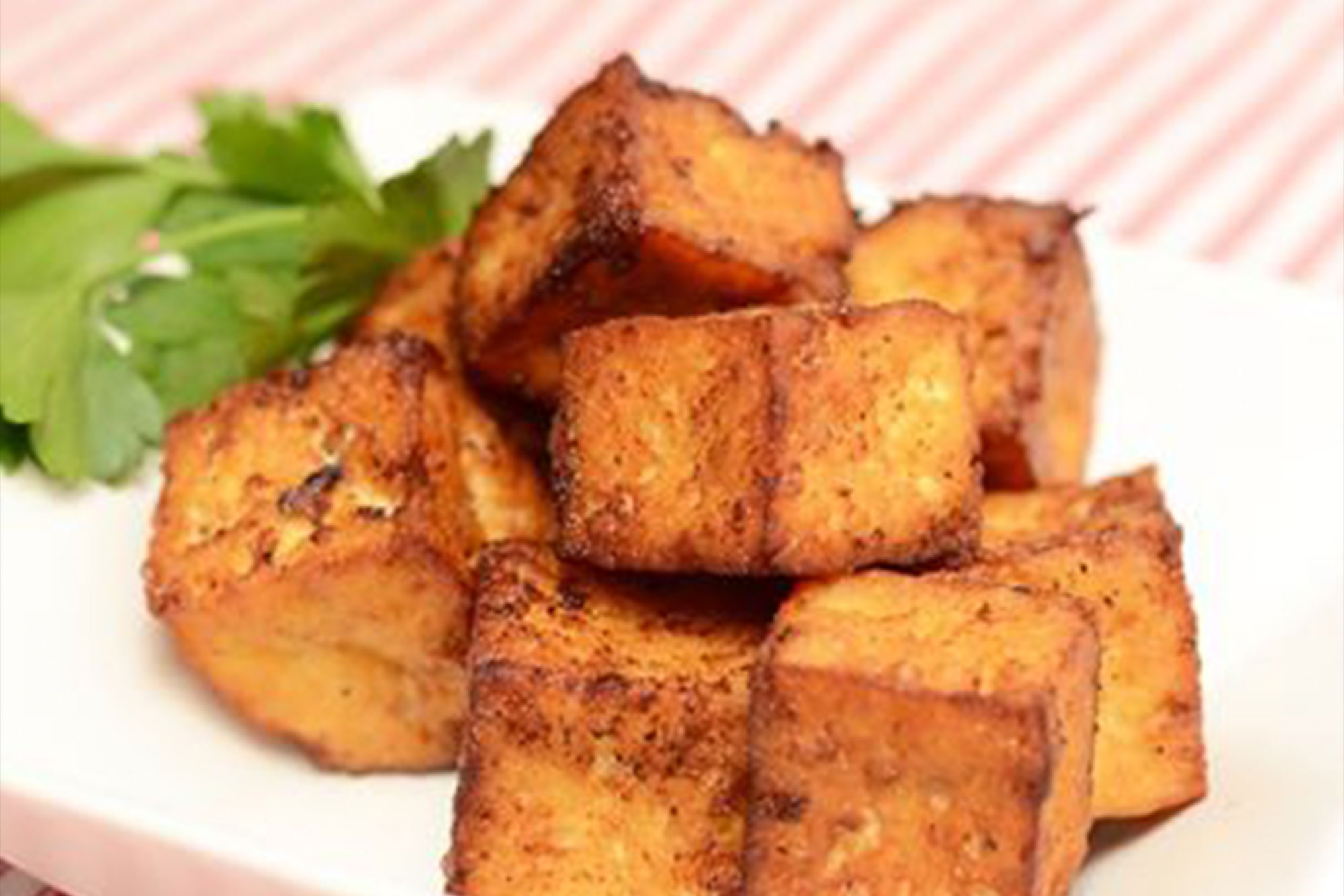 Inspiration: Fried Tofu with Spices and Herbs