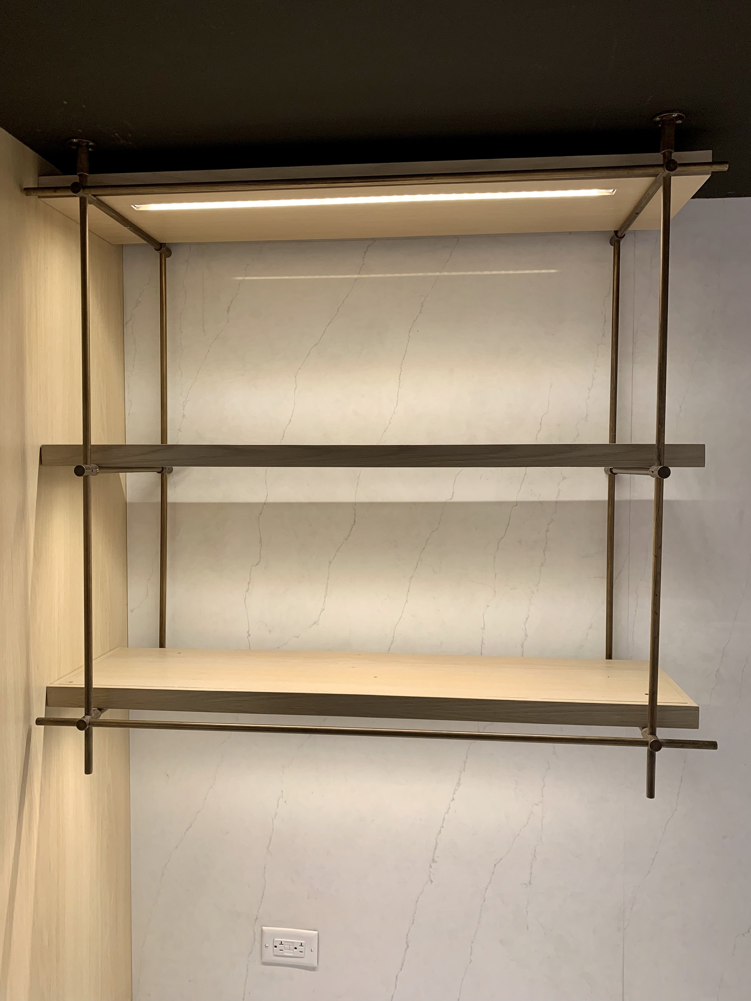 SHELF SYSTEMS - Nexise manufactures various types of custom shelving systems. Our shelving series line offers practicality, durability and full customization and are the perfect touch to any room. Blending imagination with functionality, we are able to create the perfect piece to compliment your design intent.