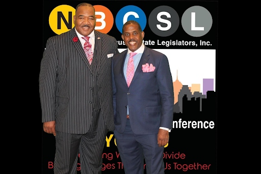 John A. Heath with New York state Senator Kevin Parker