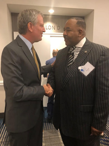 John A. Heath with New York City Mayor, Bill Blasio