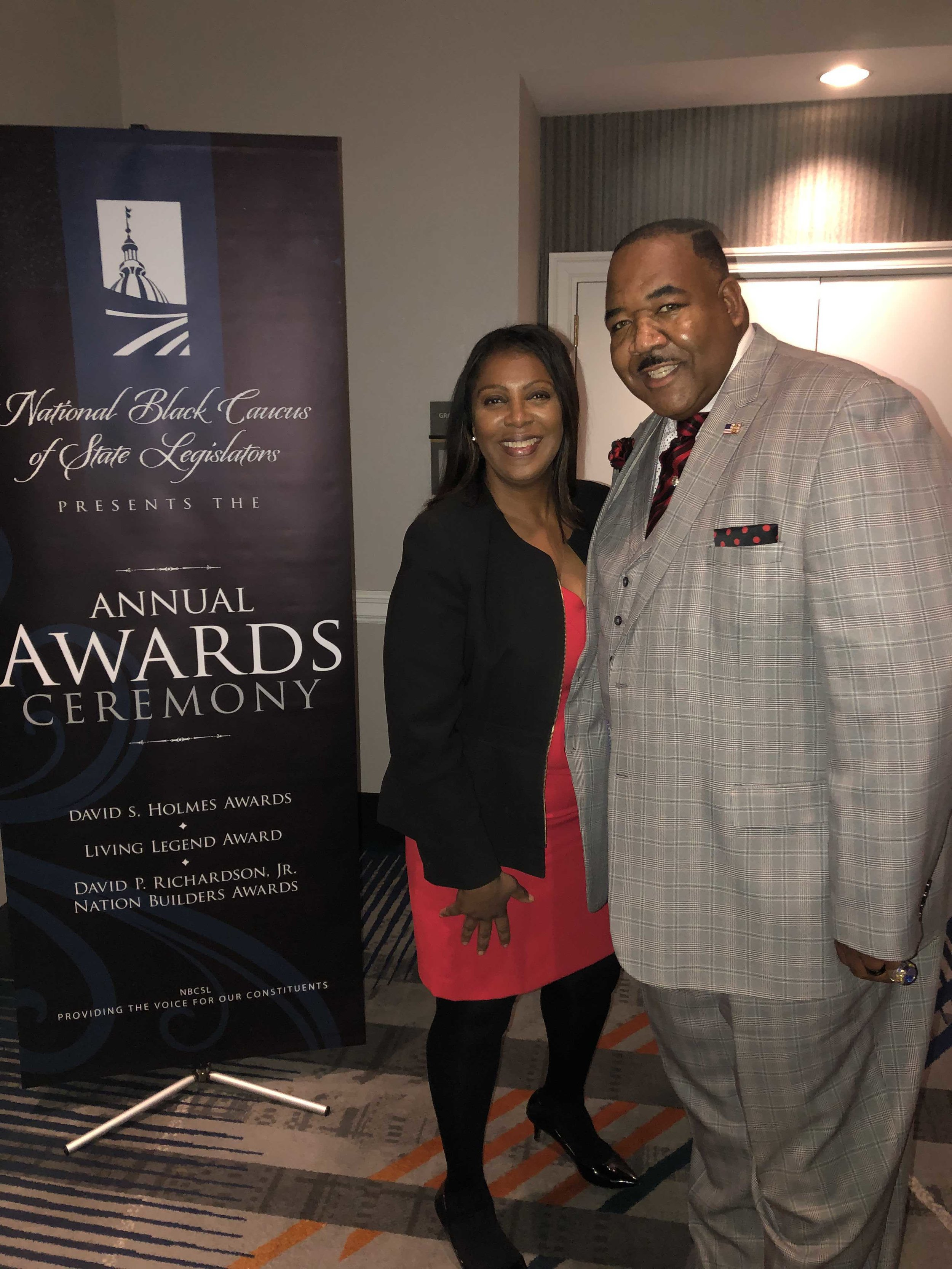 John with New York Attorney General Letitia James