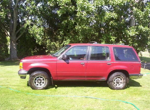 Cherry Red 1991 Ford Explorer