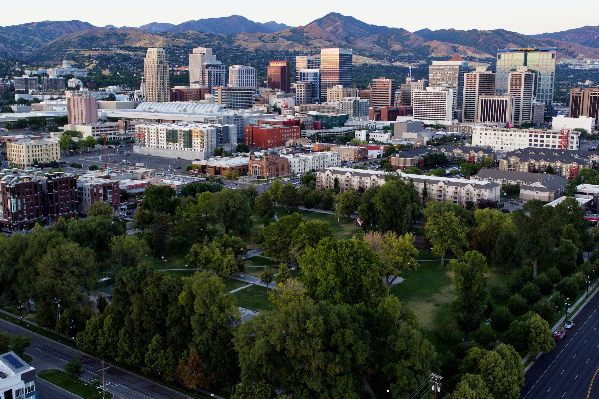 Photo taken by resident of the Pioneer Park neighborhood in SLC, Utah Dane Christensen