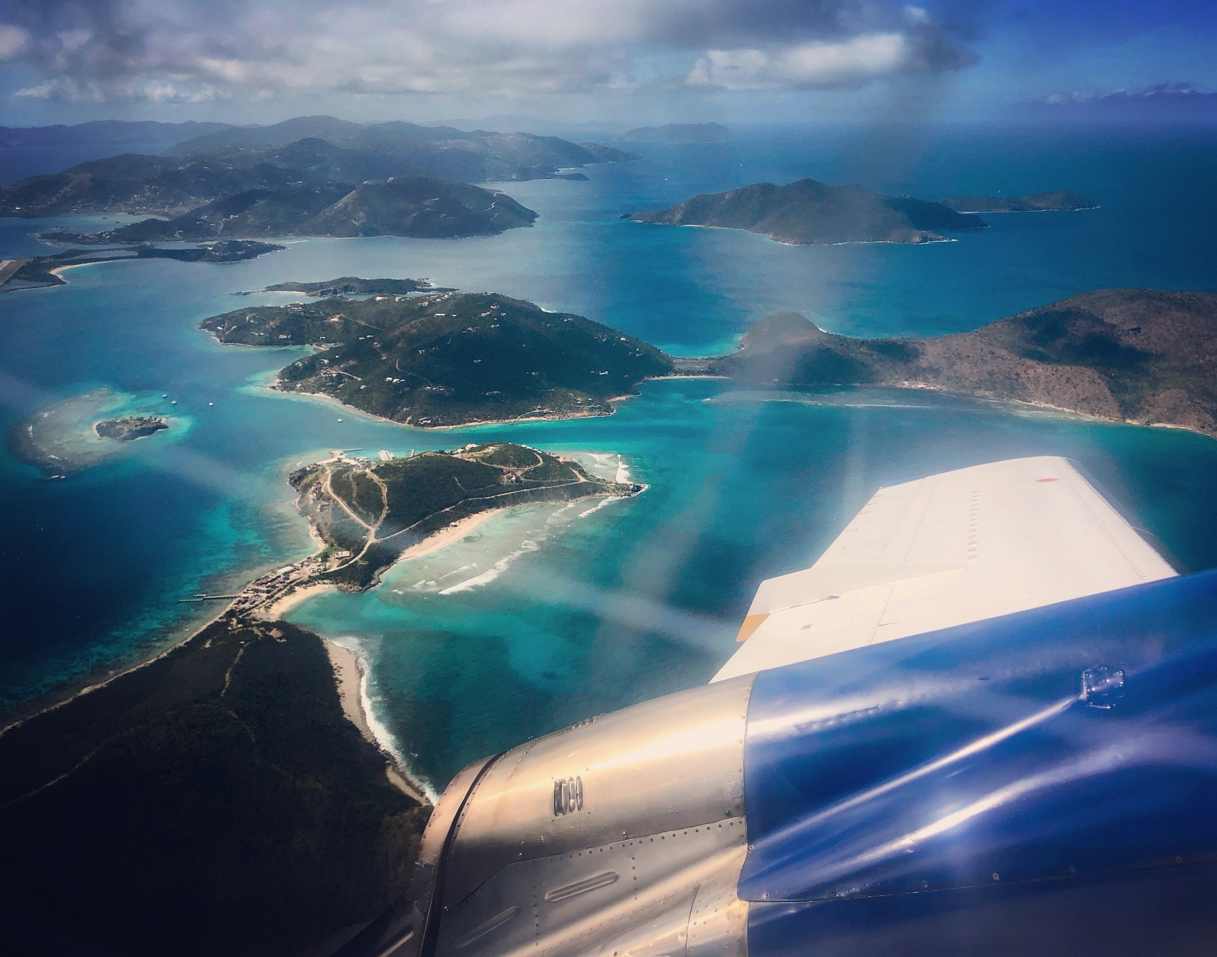 Flying over the BVI
