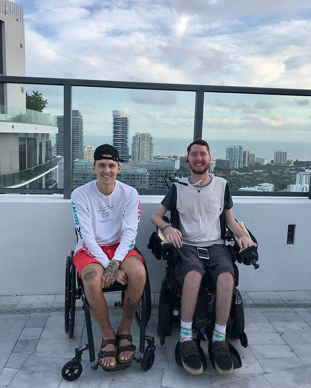 Cheers to one of the most inspirational individuals I know! Just want to say thank you so much for having us out to your fundraiser this weekend! what a blast, and can't wait for next year! . #spinalcordinjury #sci #goingthedistance #miami #paralysis #recovery #future #guess #wheelchair #thankful #motivate #hustle #rain #ellen #success #influencer #inspire #goals #blessed #Miamiliving #style #offwhite #accident #passion #cruiserpalooza