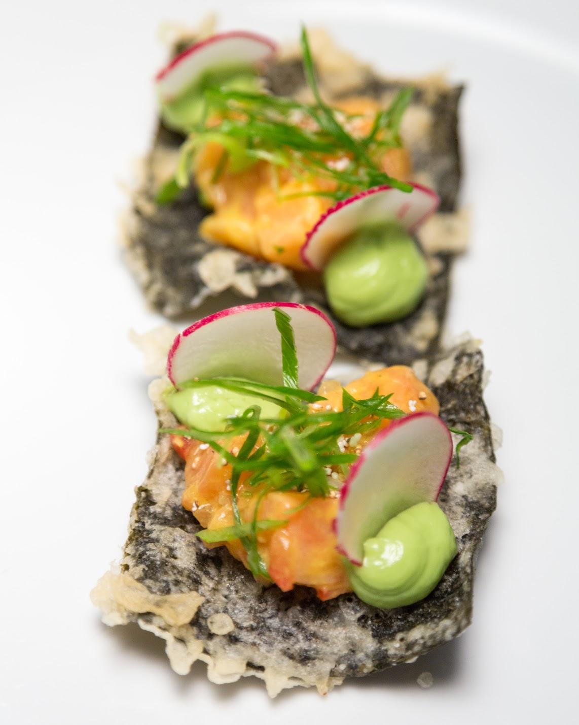 Salmon & passion fruit Nikkei tostadas .jpg