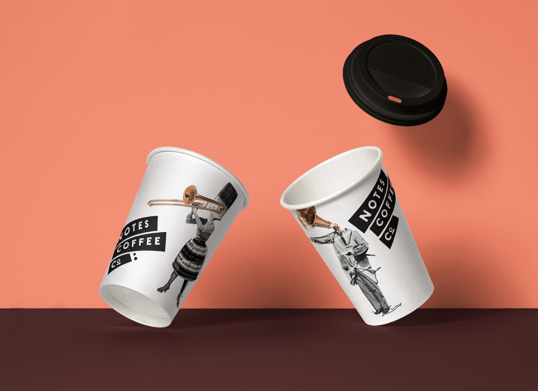 Notes Coffee Co. - Brand development . custom illustrations