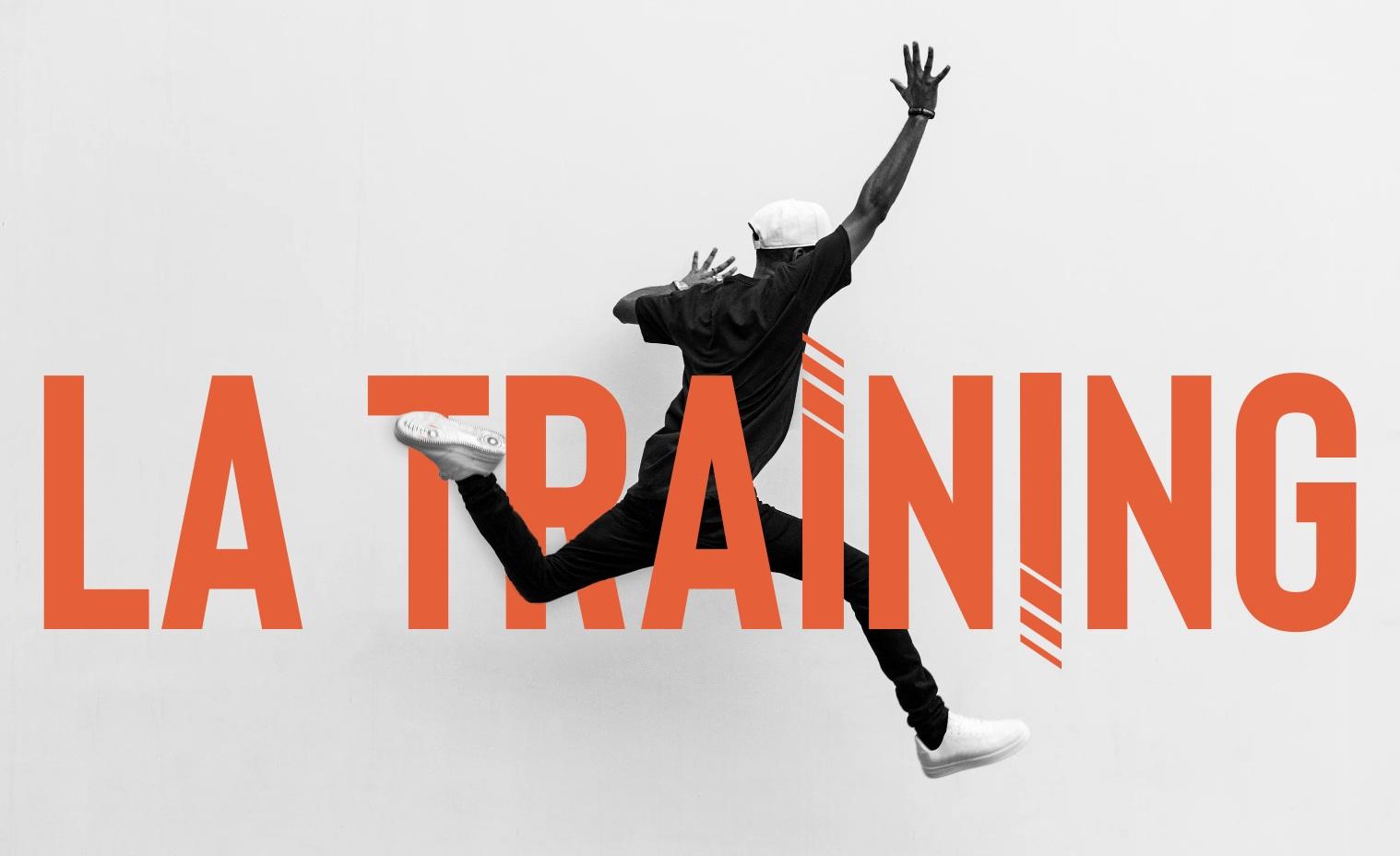 LA Training - Brand DEVELOPMENT . APPAREL design . web design