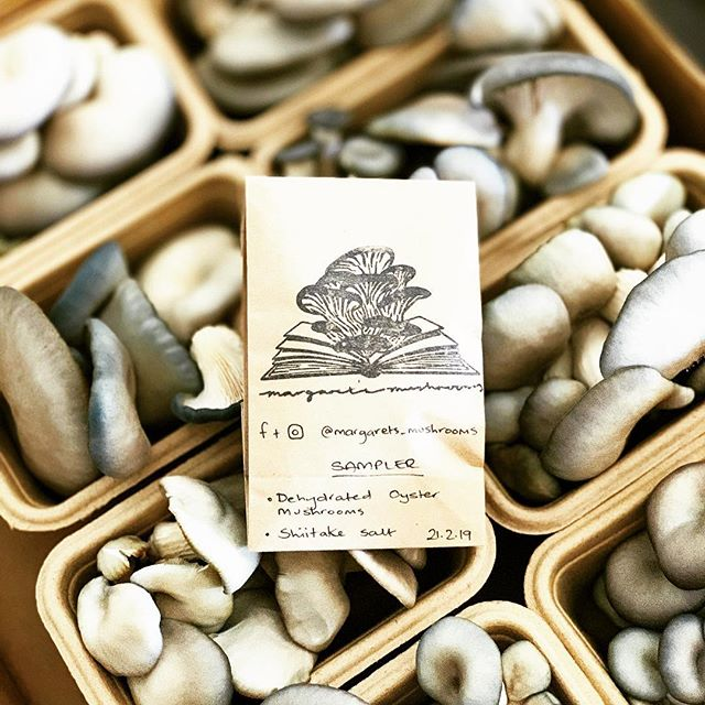We love meeting our members when delivering @parkigrocer boxes.  Today it was a grower that really made us remember how lucky we are to be around such amazing people.  Tash, from @margarets_mushrooms, didn't quite have as much mushrooms as she expected. So, what did she do?  She made an amazing sample pack containing dehydrated oyster mushrooms and shiitake salt.  Medium and large boxers are so very lucky today!! ...and it all tastes amazing!  It's so very hard for growers to know what nature will bring and we are so lucky we have such wonderfully growers and members.  Have a great Friday!  #parkigrocer #fruitandveg #supportlocal #supportourfarmers
