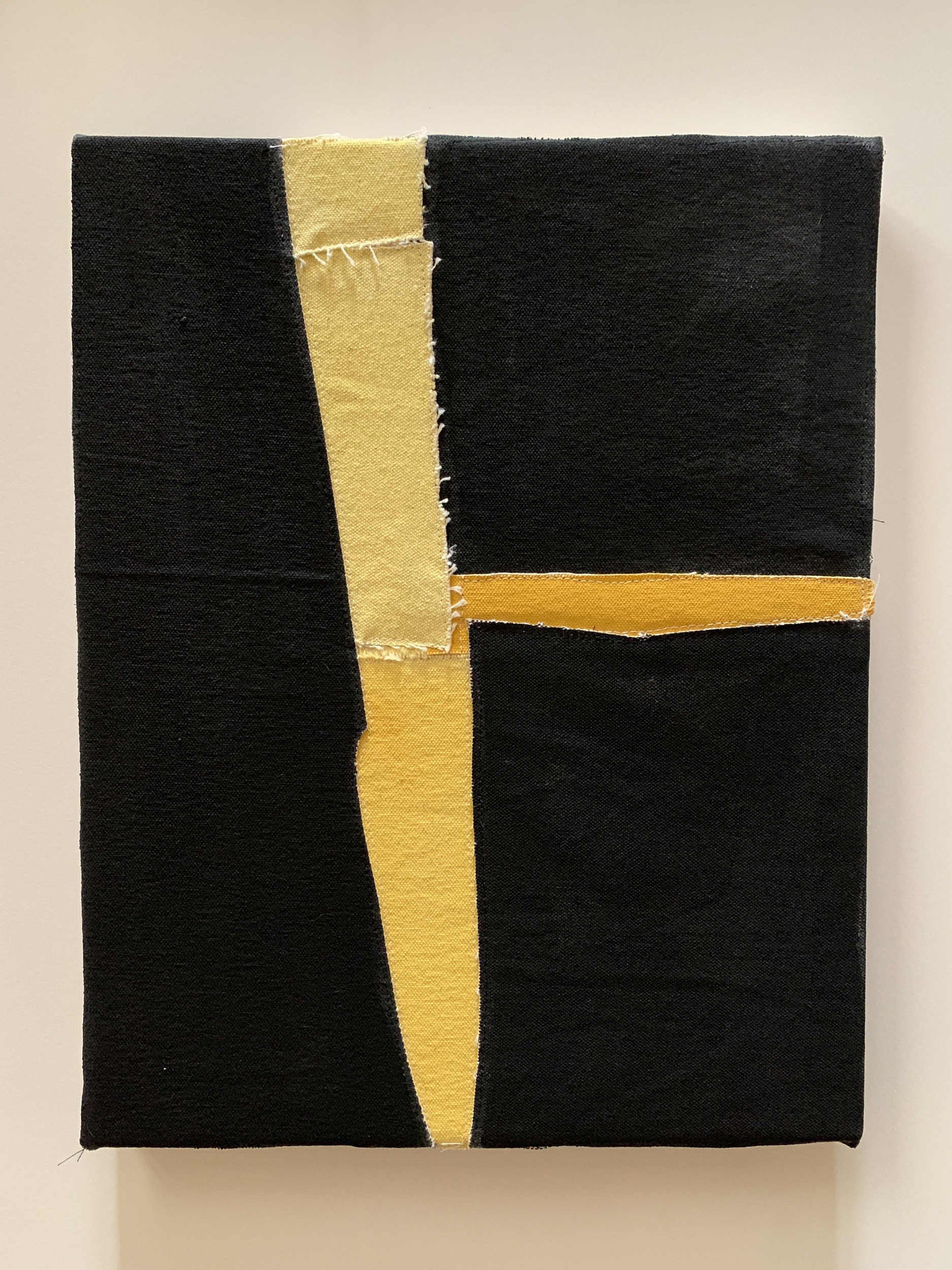 Jonathan Parker SC #97 , 2019 Acrylic on canvas, sewn 14 x 11 inches