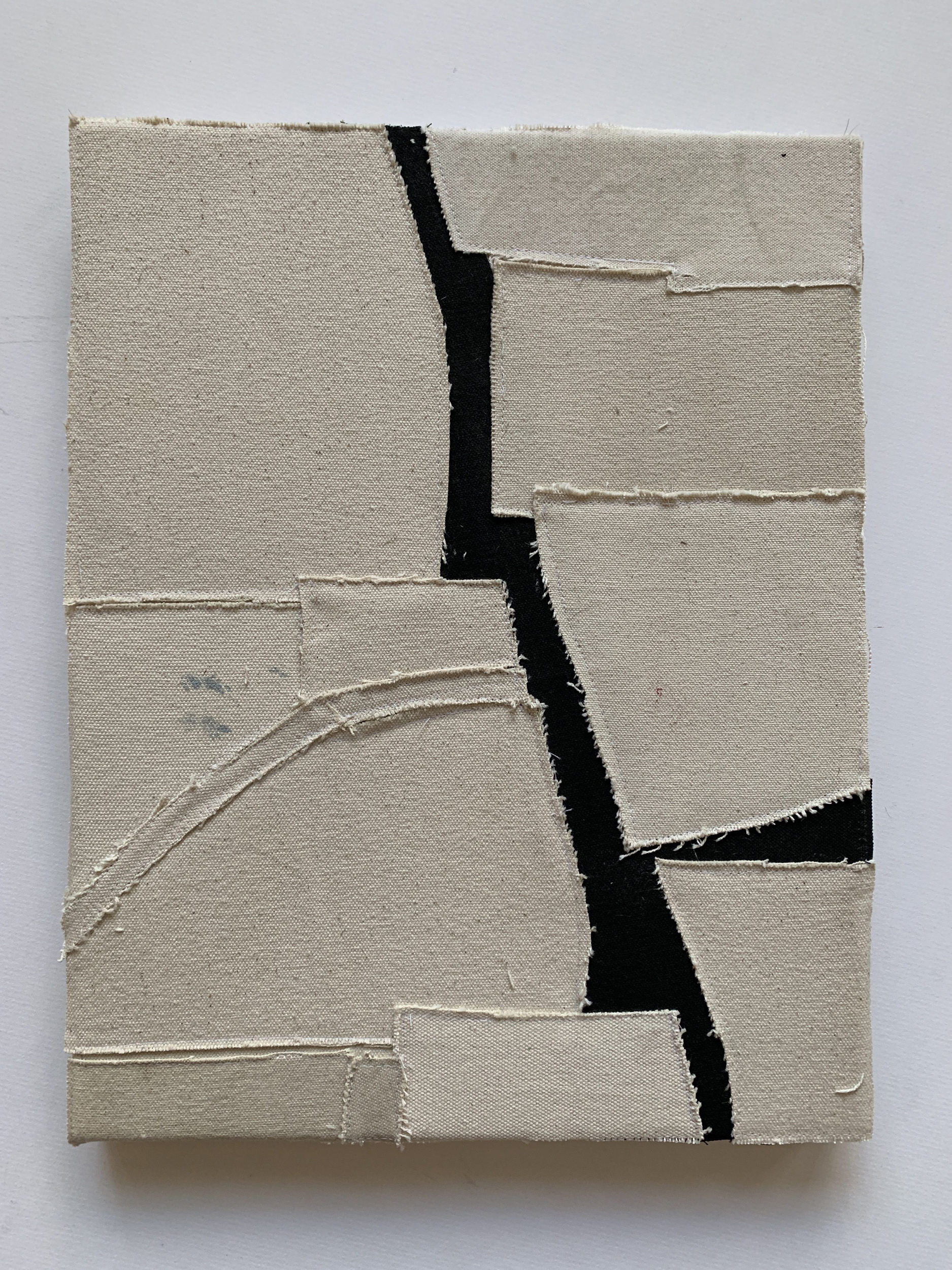 Jonathan Parker SC #96 , 2019 Acrylic on canvas, sewn 14 x 11 inches