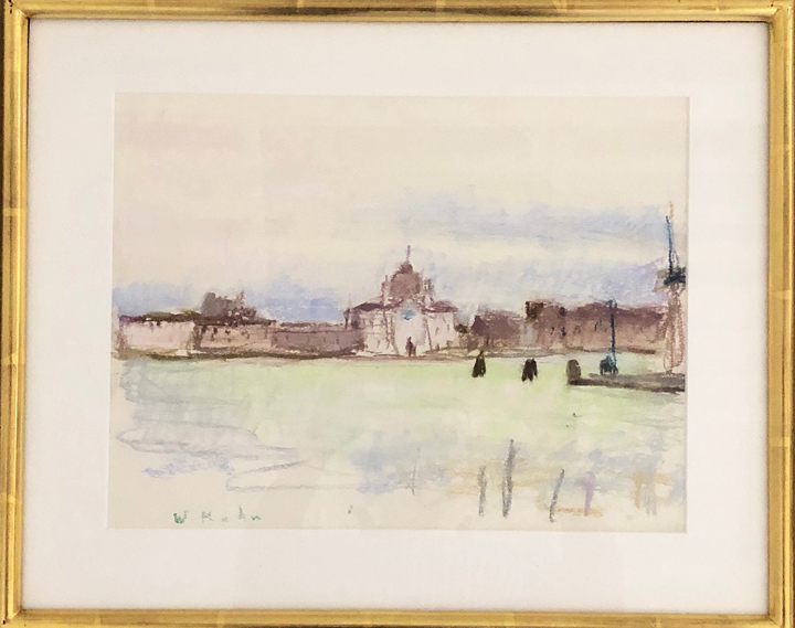 WOLF KAHN  Zitelle , (Giudecca), 1989 Pastel on paper 10 x 13 inches