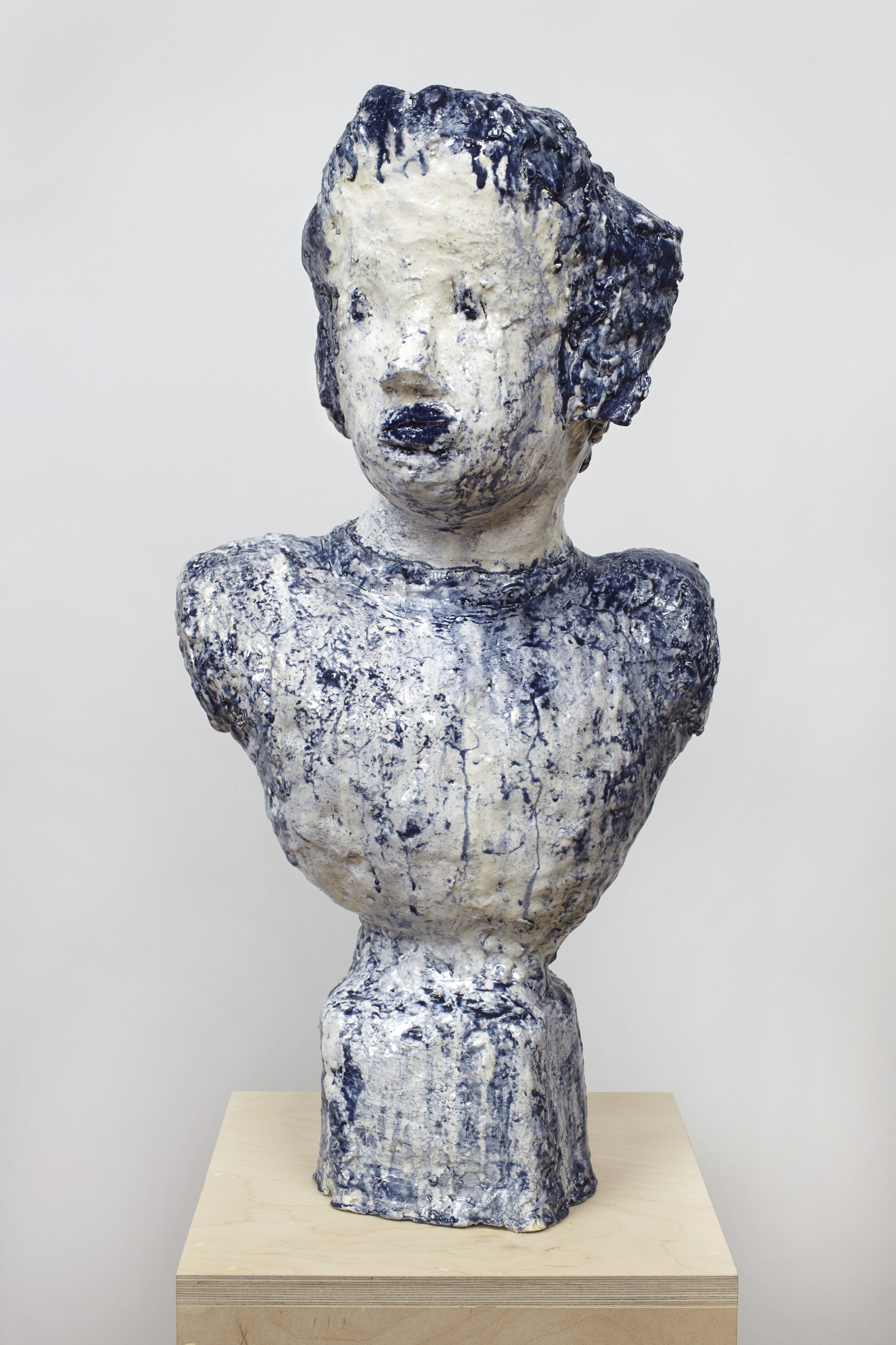Dripping Cobalt Portrait Bust, 2015