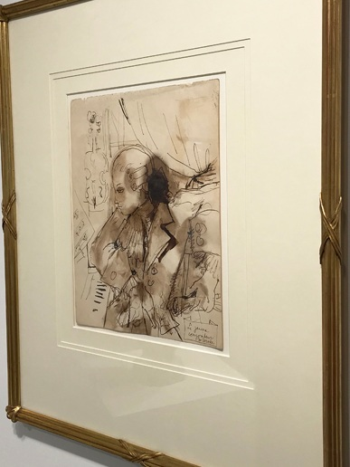 JEAN COCTEAU 1889 – 1963) Le Jeune Mozart , c. 1936 Pen and brown ink, brown washes 12 x 8.5 inches