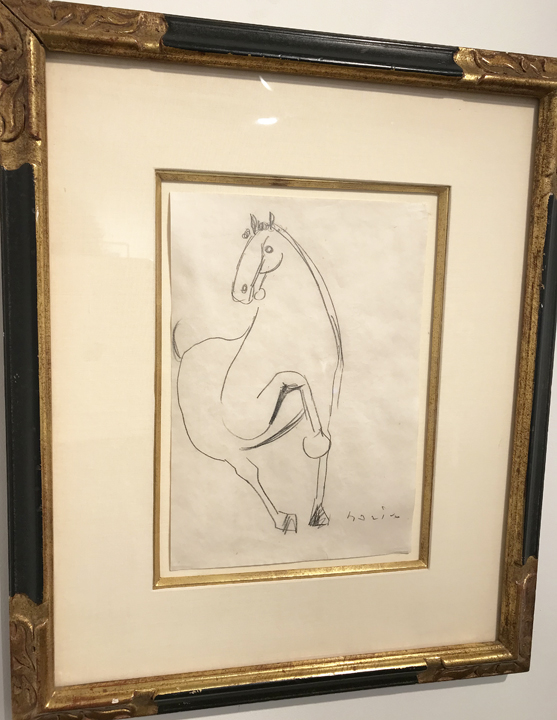 MARINO MARINI (1901 – 1980)  Horse , n.d. Pencil on paper 10.5 x 7.25 inches