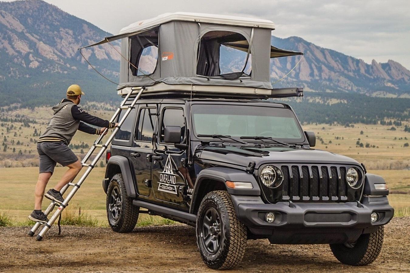 4-door Jeep Camper Rental w/Roof Top Tent