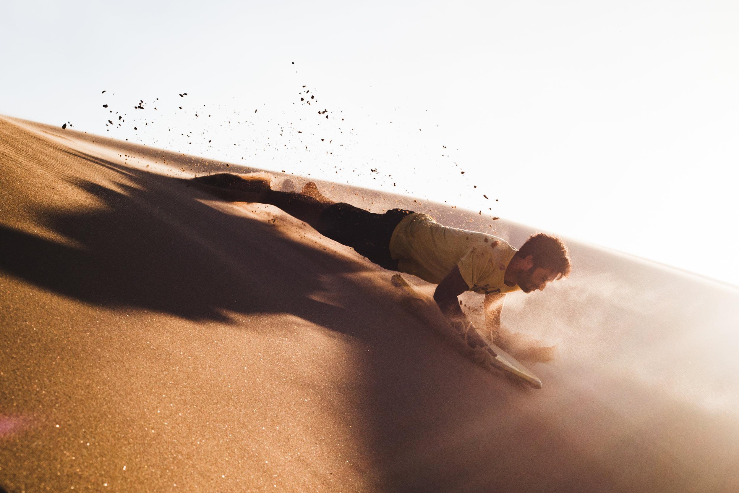 Sandboarding in Sand Dune National Park