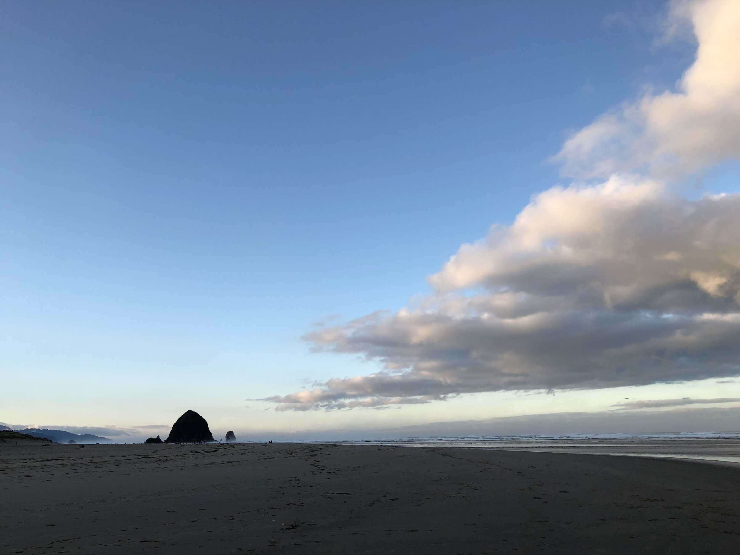 October morning walk in Cannon Beach, OR