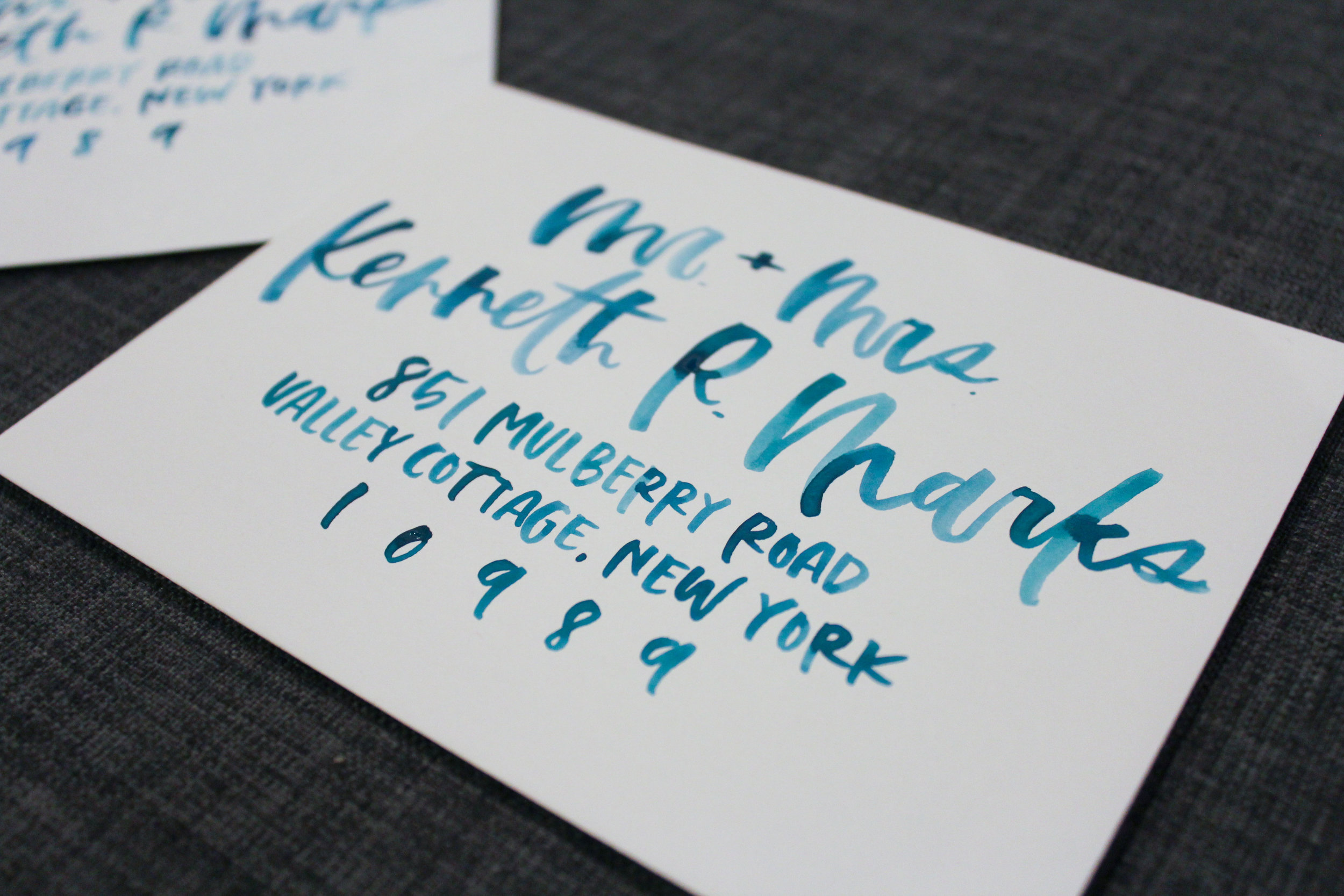 Watercolor Envelopes by Wanderlove Calligraphy
