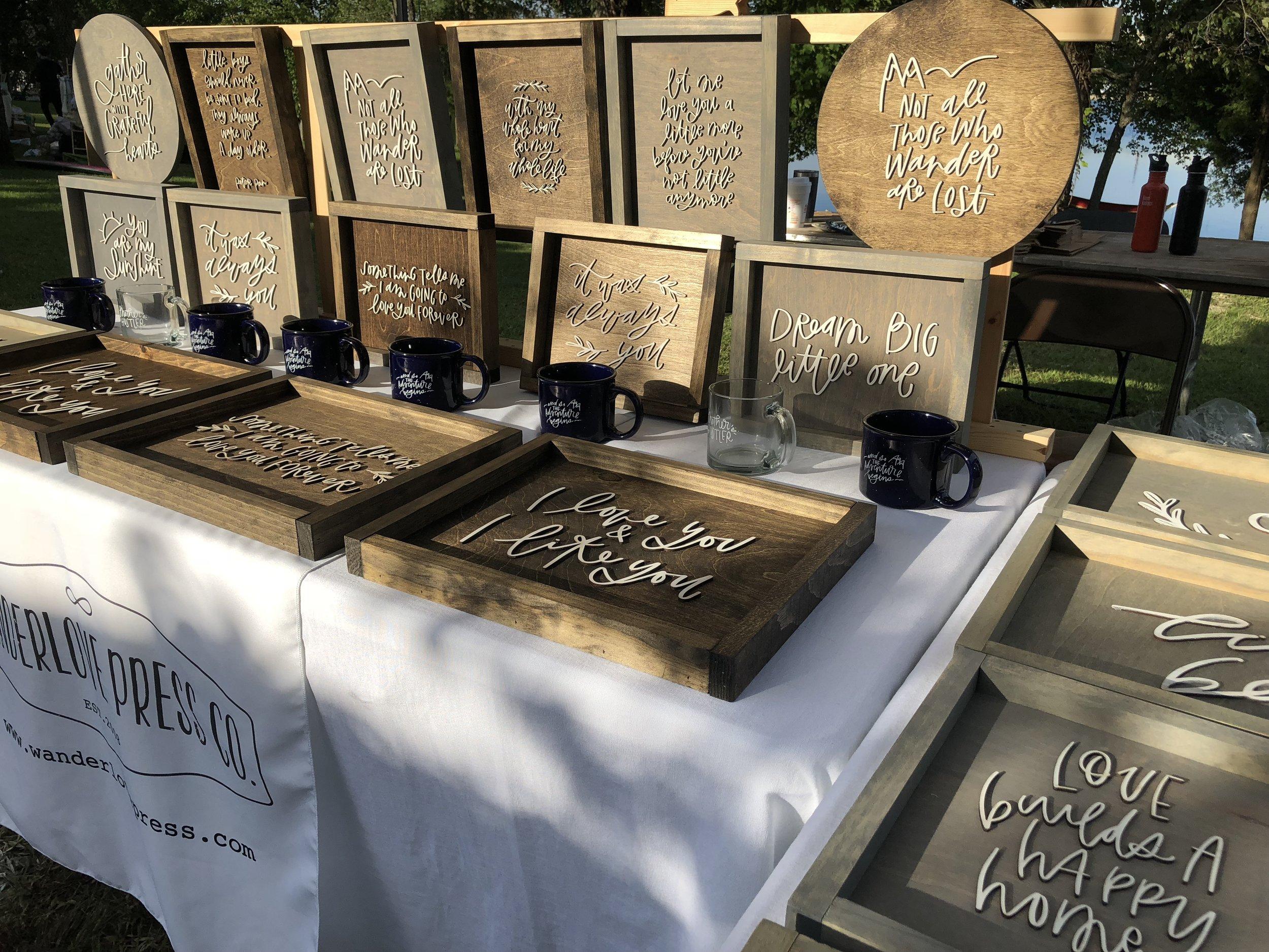 Wanderlove Calligraphy at Makerfest