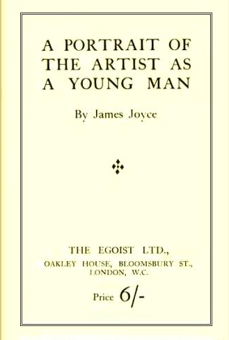 James Joyce, A Portrait of the Artist as a Young Man [London; 1916] - Mostly I'm angry with myself for not having read it when you're supposed to, i.e. in my late teens or early twenties. Now, although I'm still in awe of the musicality of the prose and the remorseless stripping-away of everything that doesn't relate to Stephen Dedalus's consciousness, it's too late for it to have the spiritual, aesthetic, or moral impact it would have had when I was a callow youth, theology-stuffed Catholic, frightened skeptic, and attempted poet myself. The famous (almost) last line,