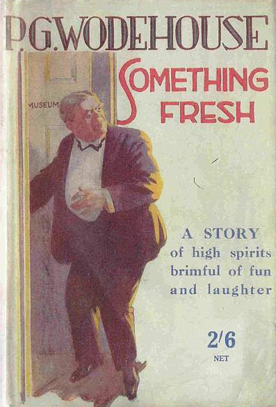 P. G. Wodehouse, Something Fresh [London; 1915] - When I work myself into a slow-motion panic about not keeping up with my reading and feeling too overwhelmed to take up anything, as I did over this past weekend, I can always turn to Wodehouse. Mostly because I've read it all already, so there's no anxiety about not getting it, but also because everything is so low-stakes and disconnected from the lived world that the political implications of the work don't have to trouble me. (Did, for example, Orwell and Waugh ever agree on anything else?)Something Freshis the first Blandings book, published in 1915, and there's a lot missing from it that the later books in the saga would establish: no Galahad, no Constance, no Empress. But Lord Emsworth is his fluffy-minded self, and Freddie Threepwood is a great comic creation, only eclipsed in his line by the later Bertie Wooster. Wodehouse was still working out the formula that would serve him for the bulk of the century, and what might surprise someone only familiar with the later work is how sincerely, though still relatively casually, he treats the romances at the center.Once he had perfected the formula, his point-of-view characters will always be either sexless elderly gentlemen or hapless goofs (also sexless); the romances will be worked out on the side, and especially in the Jeeves stories will be just as silly as everyone else. But Ashe Marson and Joan Valentine in Something Freshare perilously close to being people, and Joan is even feminist, demanding egalitarianism rather than chivalry. (Wodehouse had married the year before; according to friends, his wife was always the stronger personality. You can see how his early enamored respect would have curdled into the satirical portraits of fearsome aunts as they aged together.)It's a lot easier for me to place the book in the timeline of Wodehouse writing than in the timeline of broader literature: at times, thinking about the fact that it was published in 1915, my head