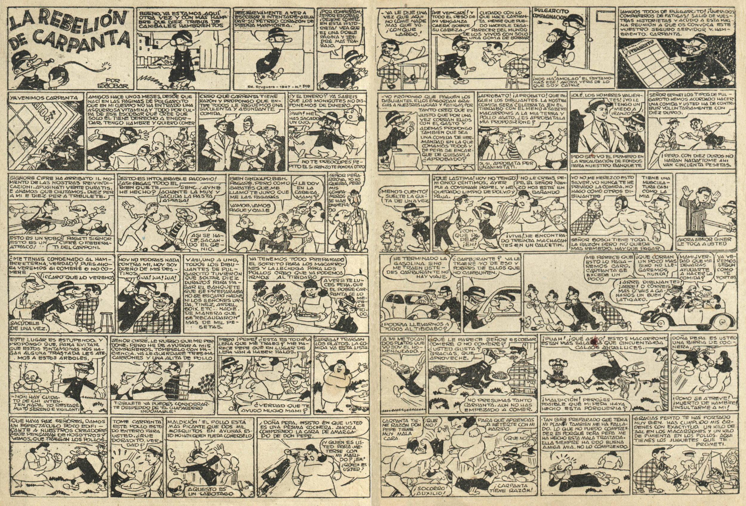 """""""Carpanta,"""" from  Pulgarcito Almanaque 1948 ."""