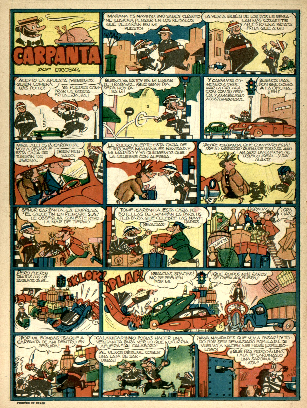 """""""Carpanta,"""" from  Pulgarcito Almanaque 1955 ."""