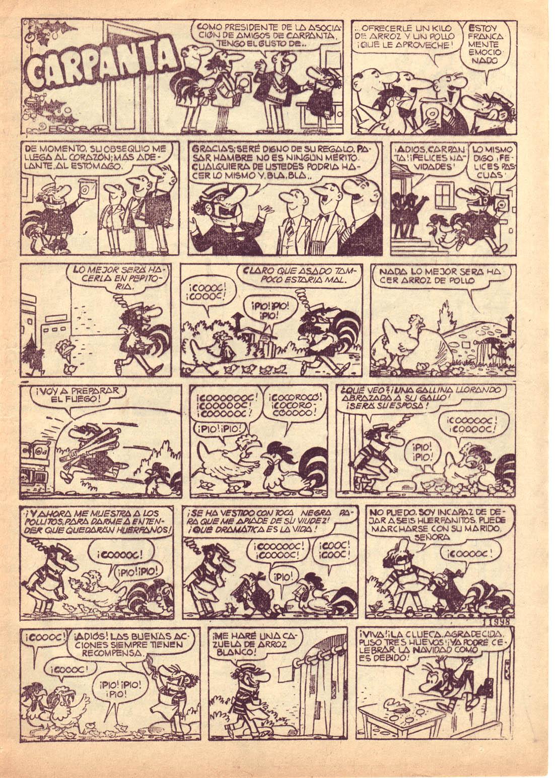 """""""Carpanta,"""" from  Pulgarcito Almanaque 1961 ."""