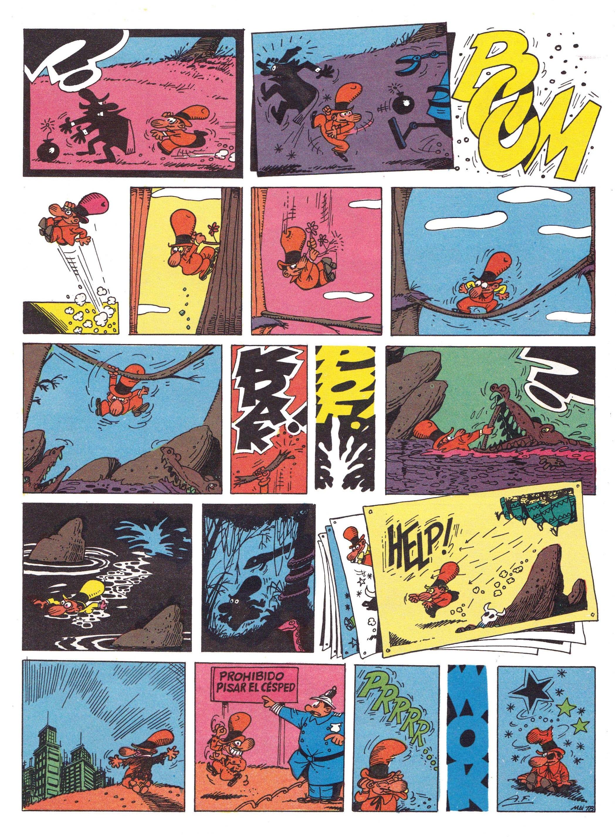 """Don Terrible Buñuelos"" from  Super Rompetechos , 1978, reprinted in  Colección Olé , 1991."