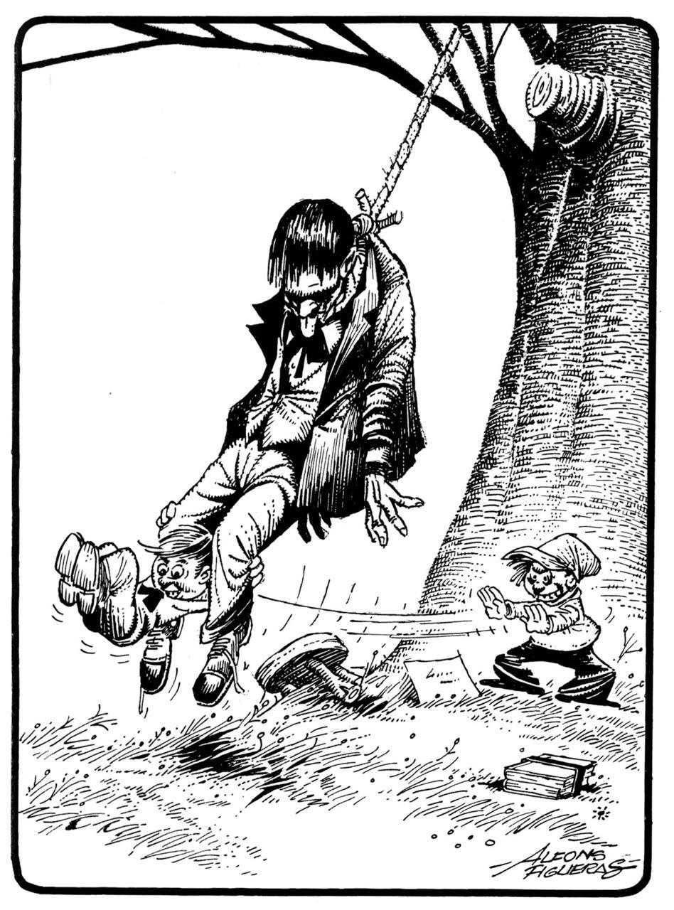 """Estampas Malignas"" from  Dossier Negro , 1976, reprinted in 2009."