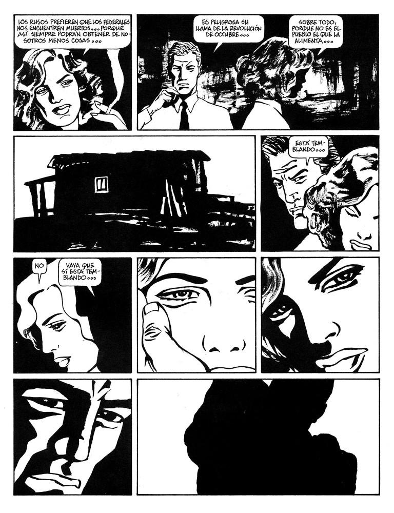 Page from  Cadáveres de Permiso , 1985.