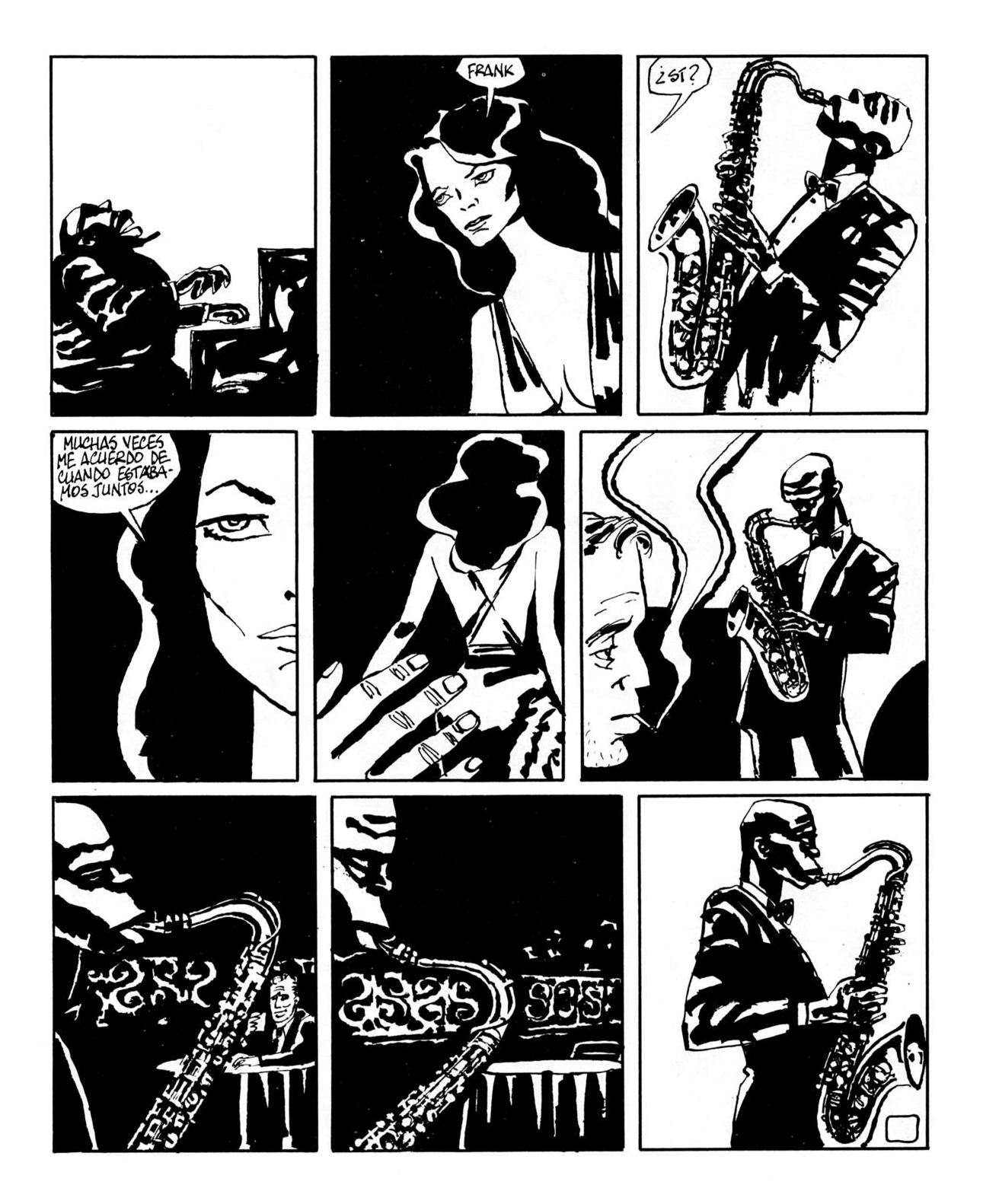 "Page from ""'My Idea' de Sonny Rollins"" in  Sombras , 1983."